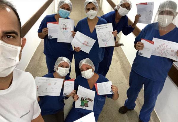 Brumado: Profissionais de saúde recebem cartas de apoio