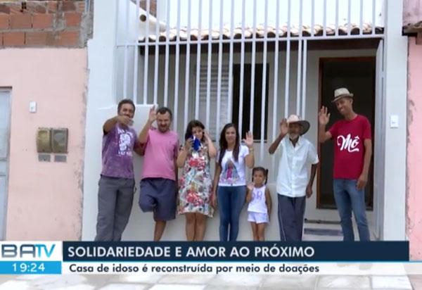Gari faz campanha e reconstrói casa de idoso em Vitória da Conquista