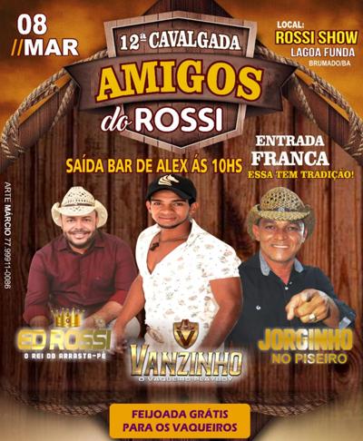 Vem aí a 11ª edição da Cavalgada Amigos do Rossi com Ed Rossi e Chris Pimenta