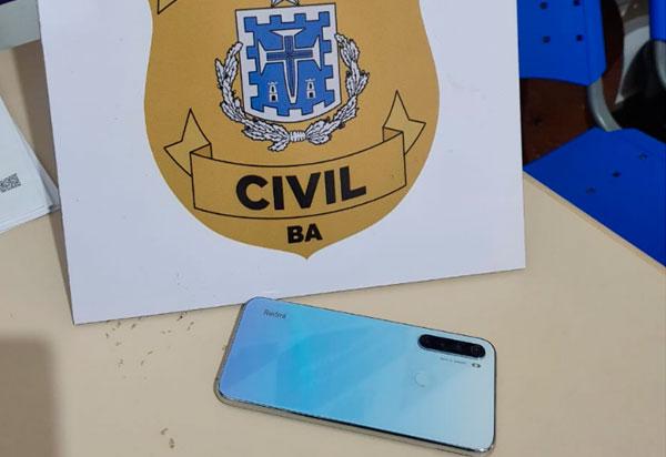Polícia Civil recupera celular furtado  no centro de Brumado