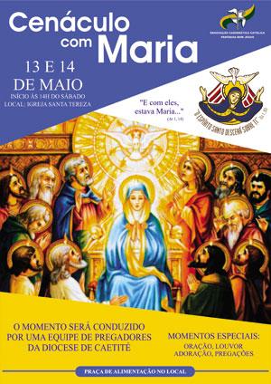 Renovação Carismática Católica de Brumado convida para o Cenáculo com Maria 0292936a35