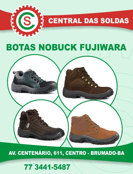 Central das Soldas - Botas Nobuck Fujiwara