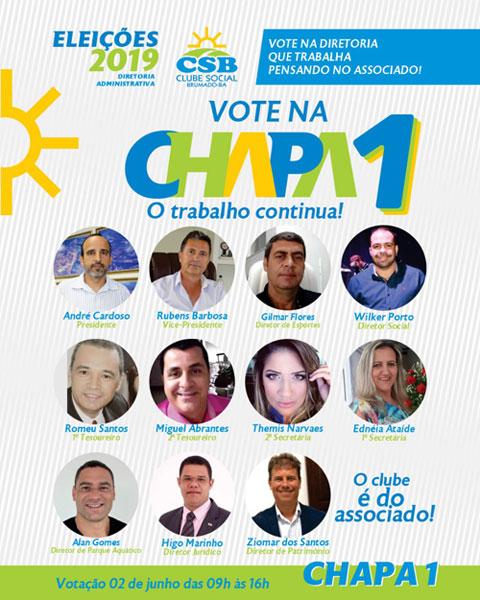 Eleições no Clube Social de Brumado: Chapa 1 quer mais trabalho e valorização do associado