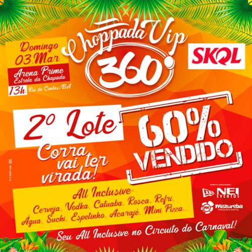 Carnaval de Rio de Contas: 2º lote de ingressos da Choppada Vip 360° já está à venda