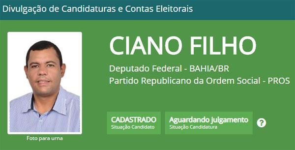 Eleições 2018: Ciano Filho tem candidatura a deputado federal registrada no TSE