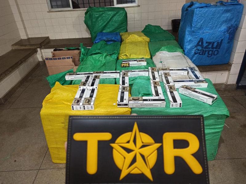 Grande quantidade de cigarros contrabandeados é apreendida na BR-030 em Ibitira
