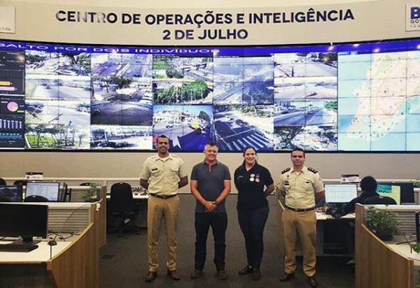 CONSEG Brumado Visita o Centro de Operações e Inteligência 2 de Julho em Salvador