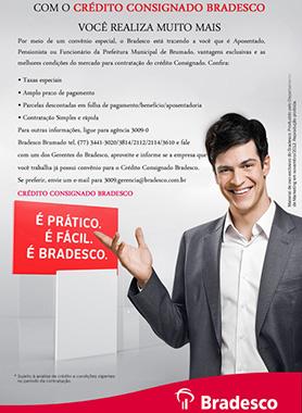 CRÉDITO CONSIGNADO É NO BRADESCO EM BRUMADO