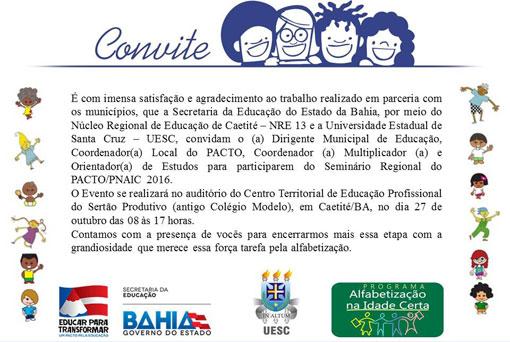 Caetité Secretaria De Educação Promove Seminário Regional