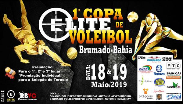 Brumado: será realizada a 1ª Copa Elite de Voleibol