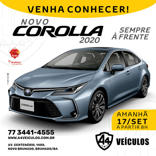 A4 Veículos: conheça o Corolla 2020