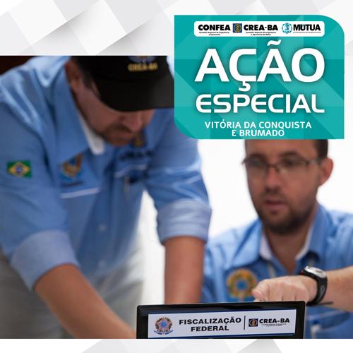 Ação Especial do Crea na região de Brumado e Conquista visa proteger à sociedade