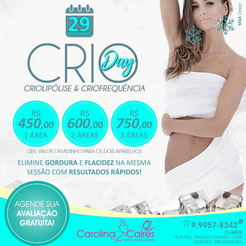Carolina Caires Estética Especializada: Criolipólise e Criofrequência na mesma sessão para um corpo pronto para o verão