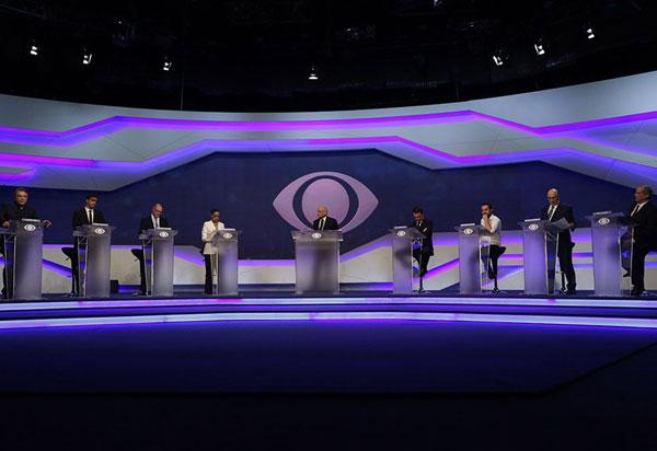 Band realiza primeiro debate e candidatos à Presidência; assista