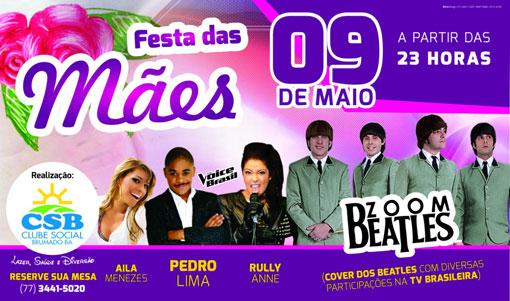 Confirmadas as atrações da festa do Dia das Mães no Clube Social de Brumado 29bc9dfda2
