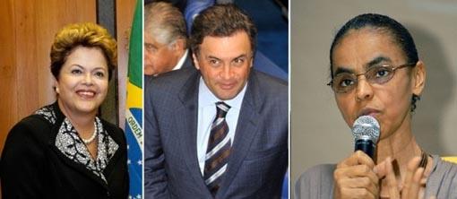 CNT/MDA: Dilma tem 36%, Marina (27,4%) e Aécio (17,6%)
