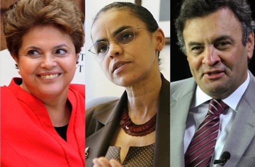 Datafolha: Dilma soma 37%, Marina, 30%, e Aécio, 17%