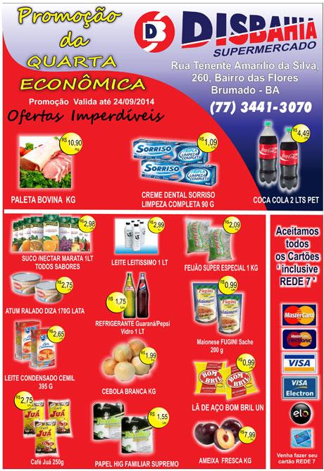 Quarta-feira é dia de economizar na Quarta Econômica do Disbahia