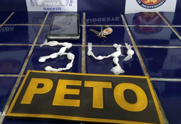 Menor de idade é apreendido em Brumado acusado de ato infracional análogo a tráfico de drogas