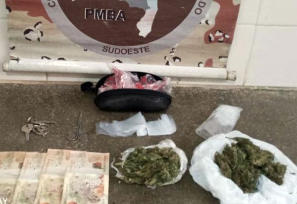 Caesg apreende drogas em residência de Barra da Estiva