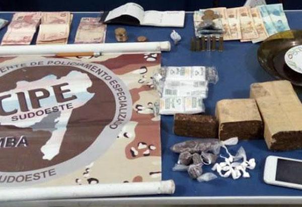 Acusado de tráfico de drogas, homem é detido em Barra da Estiva