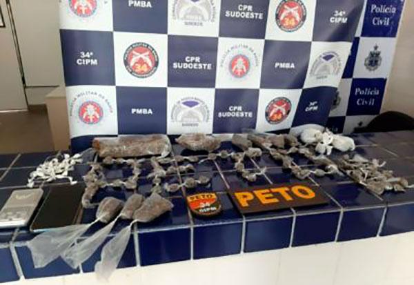 Brumado: Polícia Militar desarticula tráfico de drogas no bairro São Félix