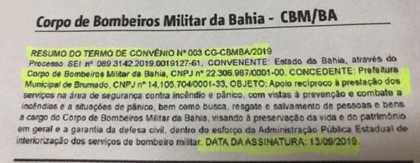 Grupamento do Corpo de Bombeiros será instalado em Brumado