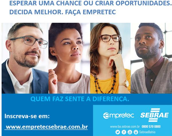 Inscrições abertas para o Empretec em Brumado e outras cidades da região