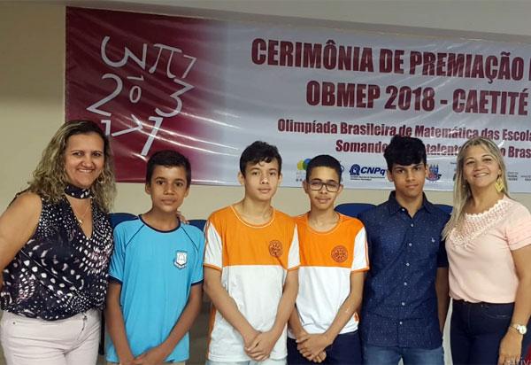 Brumado: alunos das Escolas em Tempo Integral da Rede Municipal recebem medalhas da Olimpíada Brasileira de Matemática