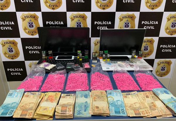 Homem é preso com cerca de 1.500 comprimidos de Ecstasy, em Vitória da Conquista