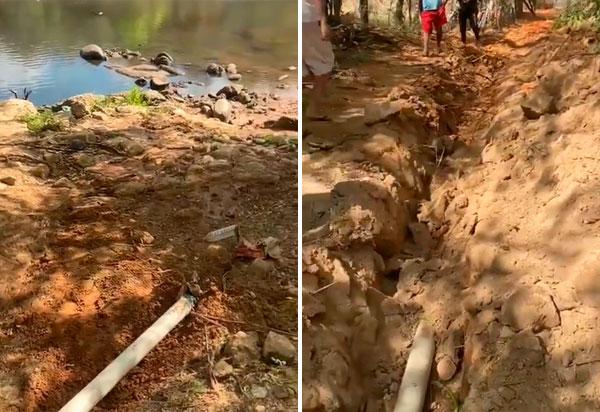 Brumado: Comunidade denuncia suposto descarte irregular de esgoto em rio no Distrito de Cristalândia