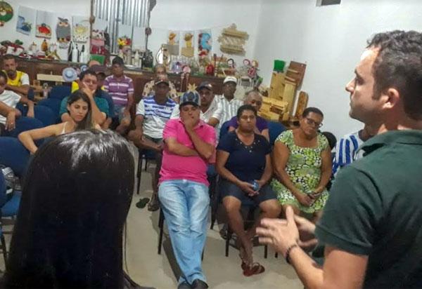 'Zona Rural tem que ser uma prioridade', afirma Fabrício Abrantes em visita a Comunidade Campo Seco