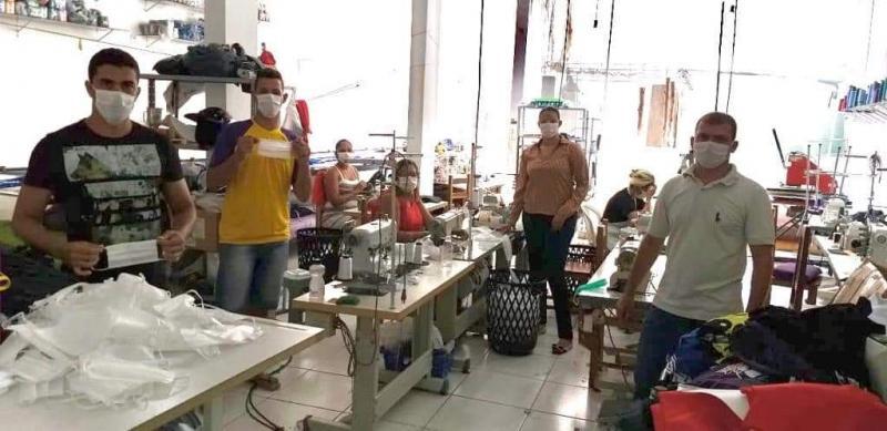 Brumado: Malharia Todo Estilo produz máscaras para doação ao Hospital Municipal Professor Magalhães Neto