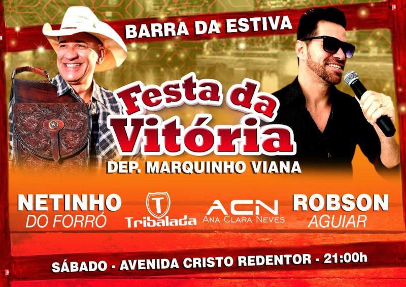 Deputado Marquinho Viana faz a festa da vitória nos municípios, e sábado é em Barra da Estiva