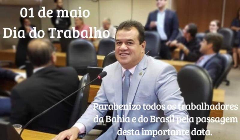 Deputado Marquinho Viana confraterniza com os trabalhadores do 1° de maio