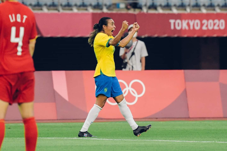 5 a 0: Brasil goleia a China em estreia nos Jogos Olímpicos