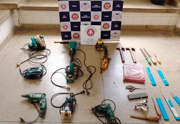Brumado: Polícia Militar recupera produtos furtados de carpintaria