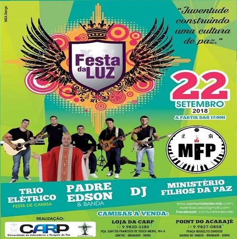 Festa da Luz acontece neste sábado (22) em Brumado