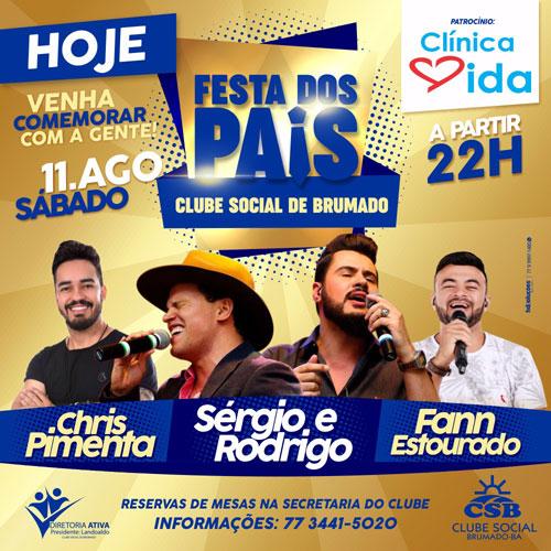 Festa dos Pais do Clube Social de Brumado acontece neste sábado (11)