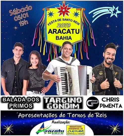 Aracatu: neste sábado (05) acontece a tradicional Festa de Santo Reis