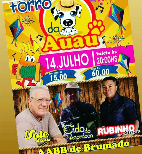 Brumado: neste sábado (14) acontece na AABB festa em prol da ONG Auau