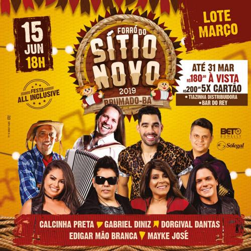 Forró do Sítio Novo 2019: Garanta já seu ingresso no lote do mês de março