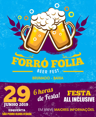 Forró Folia Beer Fest: festa all inclusive acontecerá dia 29 de junho