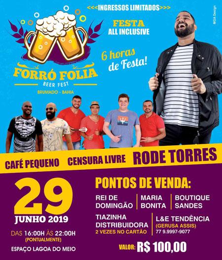 Forró Folia - Beer Fest: seis horas de festa all inclusive; ingressos à venda