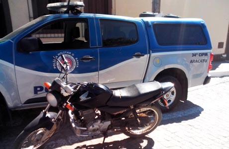 Aracatu: Polícia recupera mais um veículo roubado