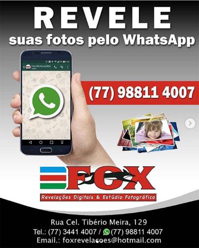 Fox Revelações: envie sua fotos para revelação pelo WhatsApp