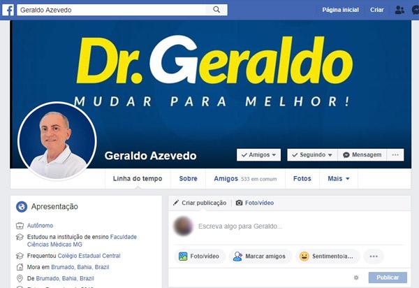 Médico Geraldo Azevedo, ex-prefeito de Brumado, lança peça publicitária na internet com o tema 'Dr. Geraldo - Mudar para Melhor'