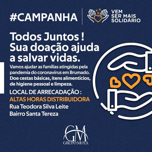 Grupo Mota realiza campanha para arrecadação de alimentos e produtos de higiene para famílias carentes em Brumado