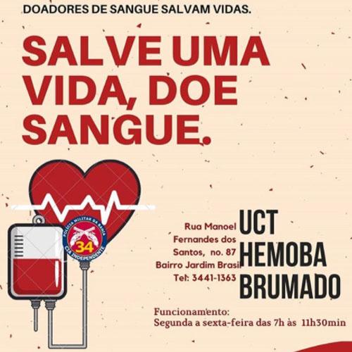 PM e Hemoba realizam Campanha de Doação de Sangue
