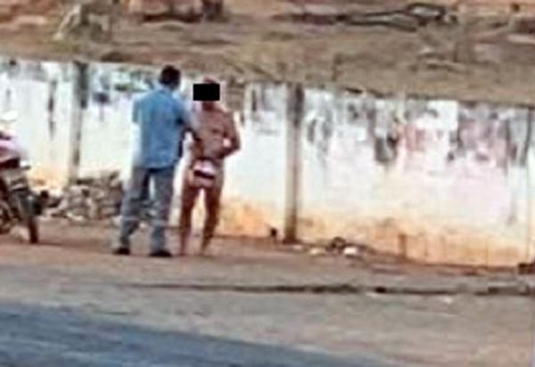 Brumado: Homem é flagrado caminhando nu pela Avenida Lindolpho Azevedo de Brito